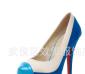 2012春款,韩版高贵淑女气质撞色 超高跟防水台女鞋上市!